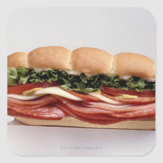 Deli sandwich square sticker