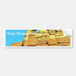 Delicate Arch At Arches National Park Bumper Sticker