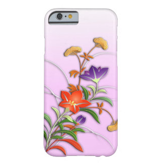 Delicate autumn flowers barely there iPhone 6 case