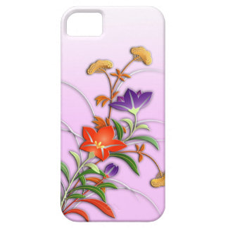 Delicate autumn flowers iPhone 5 case