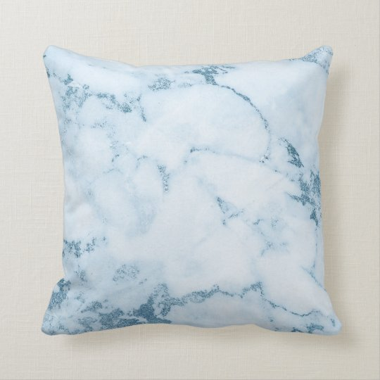 Delicate Blue Aquatic Frozen White Marble Vip Throw