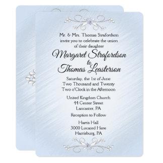 Delicate Blue Wedding Invitation