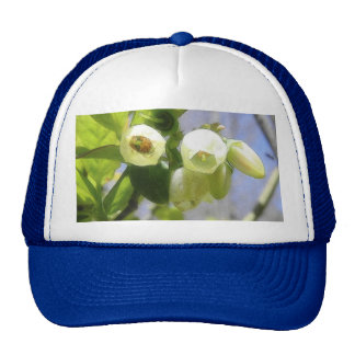Delicate Blueberry Blossoms Trucker Hat