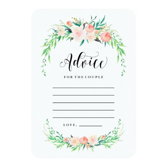 Delicate Bouquet Advice Cards