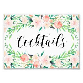 Delicate Bouquet Cocktails Print Photograph