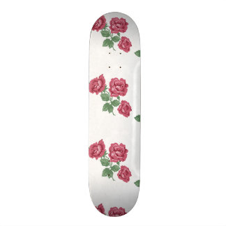 Delicate Country Chic Rose & Lace Custom Skateboard