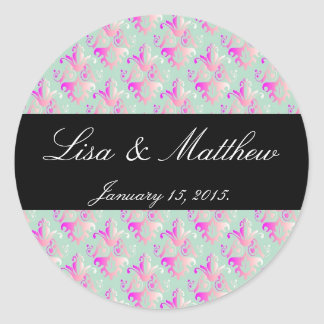 Delicate Damask Pattern Stickers