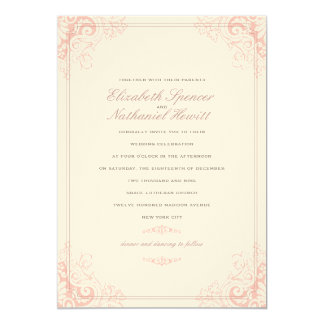 Delicate Dream 2 Wedding Invitation Soft Pink
