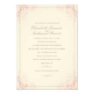 """Delicate Dream 2 Wedding Invitation Soft Pink 5"""" X 7"""" Invitation Card"""