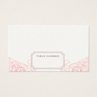 Delicate Dream Wedding Escort Card in Soft Pink