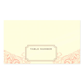 Delicate Dream Wedding Escort Card in Soft Pink Pack Of Standard Business Cards