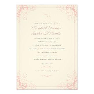 Delicate Dream Wedding Invitation Soft Pink