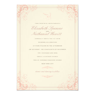 Delicate Dream Wedding Invitation Soft Pink