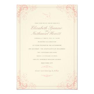 """Delicate Dream Wedding Invitation Soft Pink 5"""" X 7"""" Invitation Card"""