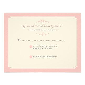 Delicate Dream Wedding RSVP in Soft Pink Invitation