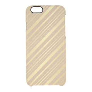 Delicate Eco Golden Stripes Lines iPhone Clearly™ Clear iPhone 6/6S Case