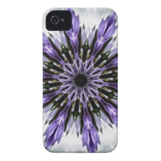 Delicate Feminine Purple Lacy Floral Kaleidoscope iPhone 4 Case-Mate Case