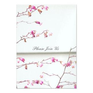 Delicate Floral 13 Cm X 18 Cm Invitation Card