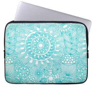 delicate floral lattice pattern laptop sleeve
