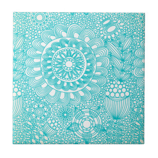delicate floral lattice pattern small square tile