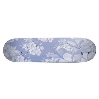 Delicate floral pattern,blue (I) Skate Boards