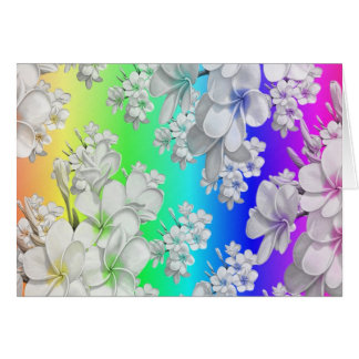 Delicate floral pattern,rainbow (I) Card
