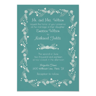 Delicate Floral Wedding Invitation