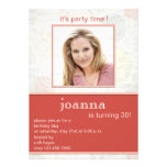 Delicate florals 30th birthday party invitations