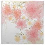 Delicate flower cloth napkin