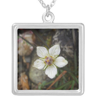 Delicate Flower on the Rocks Necklace