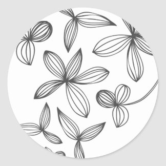 Delicate Flowers Round Sticker
