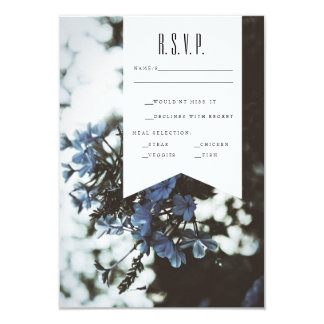 Delicate Flowers | RSVP 9 Cm X 13 Cm Invitation Card