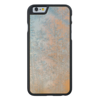 Delicate frost pattern, Wisconsin Carved® Maple iPhone 6 Case