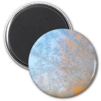 Delicate frost pattern, Wisconsin Magnet