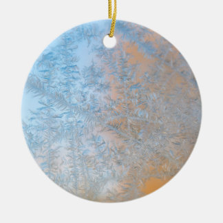 Delicate frost pattern, Wisconsin Round Ceramic Decoration