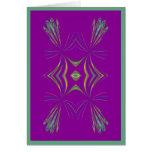 Delicate Geometric on Purple  Card