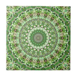 Delicate Green Garden Growth Kaleidoscope Tile