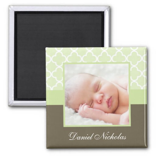 Delicate Green Photo Frame Refrigerator Magnet