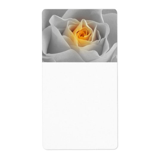 Delicate Grey Rose Shipping Label