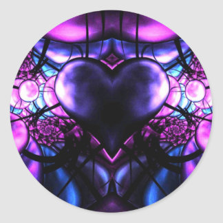 Delicate Heart of Scorpio Round Sticker