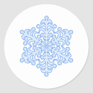 Delicate Icy Blue Winter Christmas Snowflake Sticker