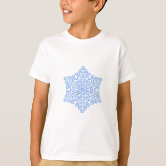 Delicate Icy Blue Winter Christmas Snowflake T Shirt