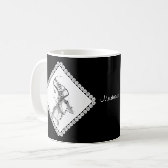 Delicate Illustration of Woman to Personalise Coffee Mug