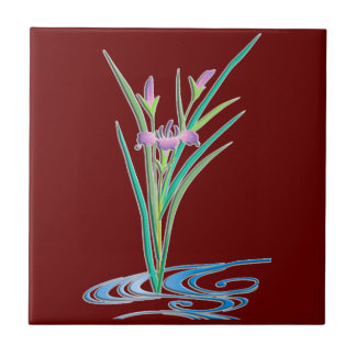 Delicate Iris Tile