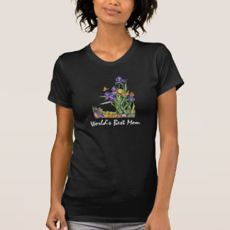 Delicate Irises for Mother's Day World's Best Mom T Shirts
