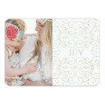 Delicate Joy | Holiday Photo Card Personalised Announcement