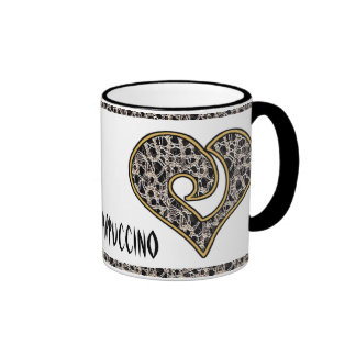 Delicate Lace Fabric Pattern Collection Lace - 02 Mugs