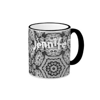 Delicate Lace Fabric Pattern Collection Lace - 03 Coffee Mug