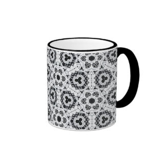 Delicate Lace Fabric Pattern Collection Lace - 06 Coffee Mug