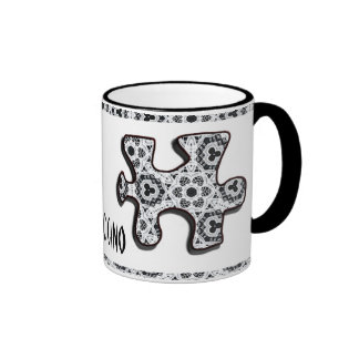 Delicate Lace Fabric Pattern Collection Lace - 06 Coffee Mugs